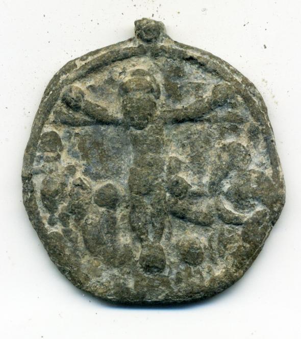 Virgen con Niño sobre creciente lunar/ Cristo en la Cruz.  S. XVI Anv00713