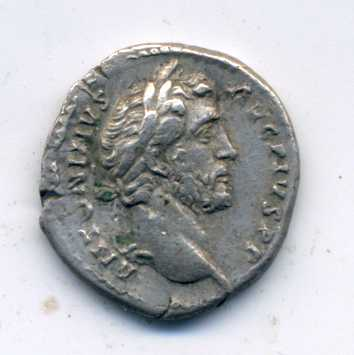 Denario de Antonino Pío. COS III DES IIII. Roma Anv_de10