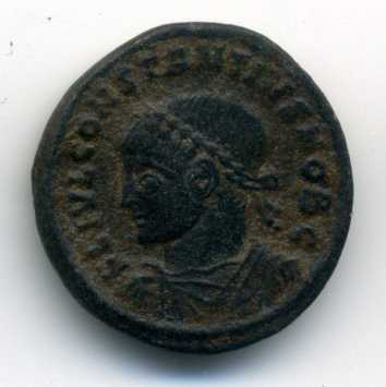 AE3 de Constancio II. PROVIDENTIAE CAESS. Arlés Anv_va17