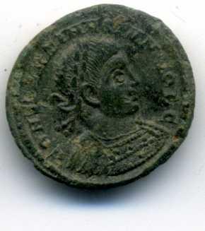 AE3 de Constantino II. GLORIA EXERCITVS Anv_va25