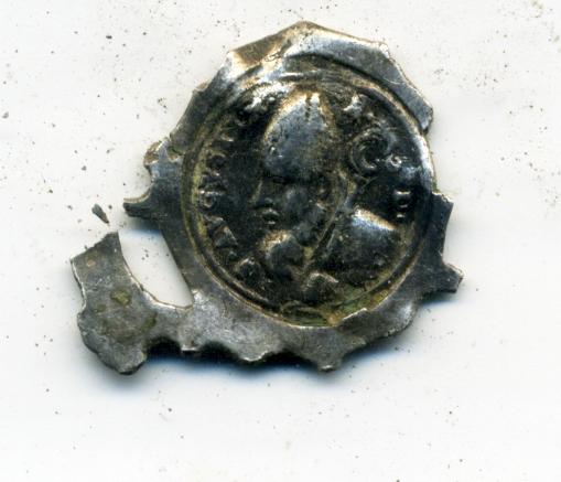 San Agustín / Virgen del Pilar de Zaragoza ( fragmento calada), s. XVIII Rev01111