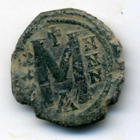 40 nummi de León III y Constantino V.  Rev01310