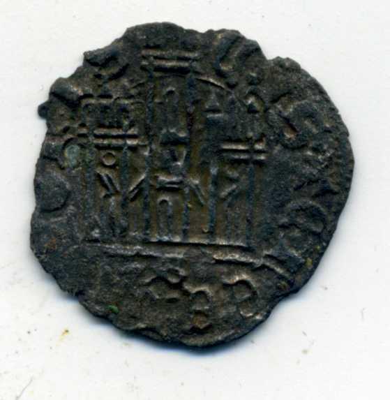 Dinero coronado o cornado de Enrique III.  Rev_en10