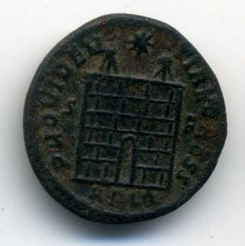 AE3 de Constancio II. PROVIDENTIAE CAESS. Arlés Rev_va17