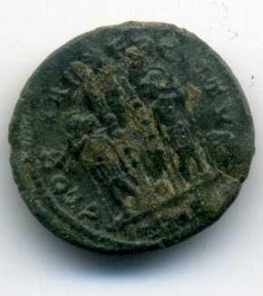 AE3 de Constantino II. GLORIA EXERCITVS Rev_va25