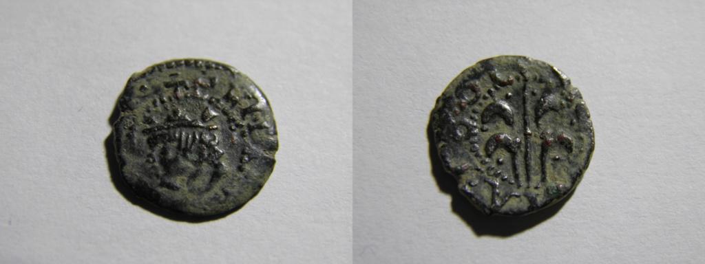 Dinero de Felipe IV, Valencia 1661 P8120410