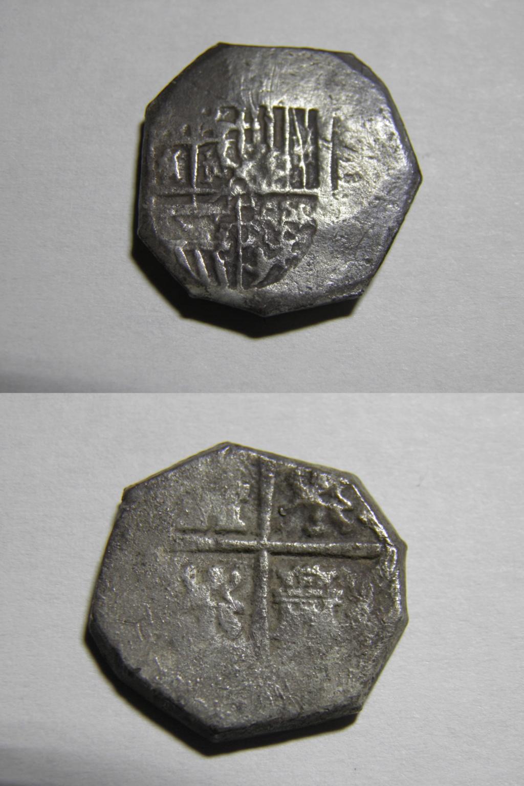 Macuquina de 2 reales tipo omnivm, 1597 a 1609, Sevilla. P9300110