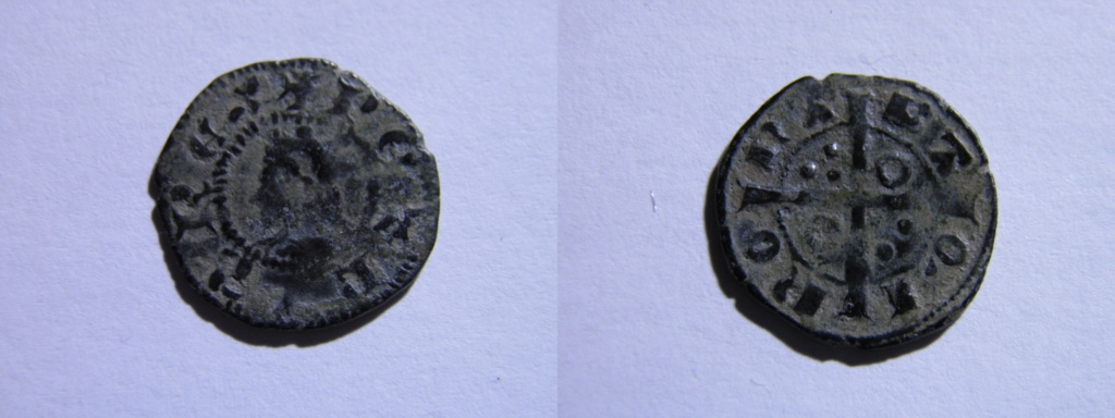 Dinero de Pedro IV de Aragón. Barcelona Pb180010
