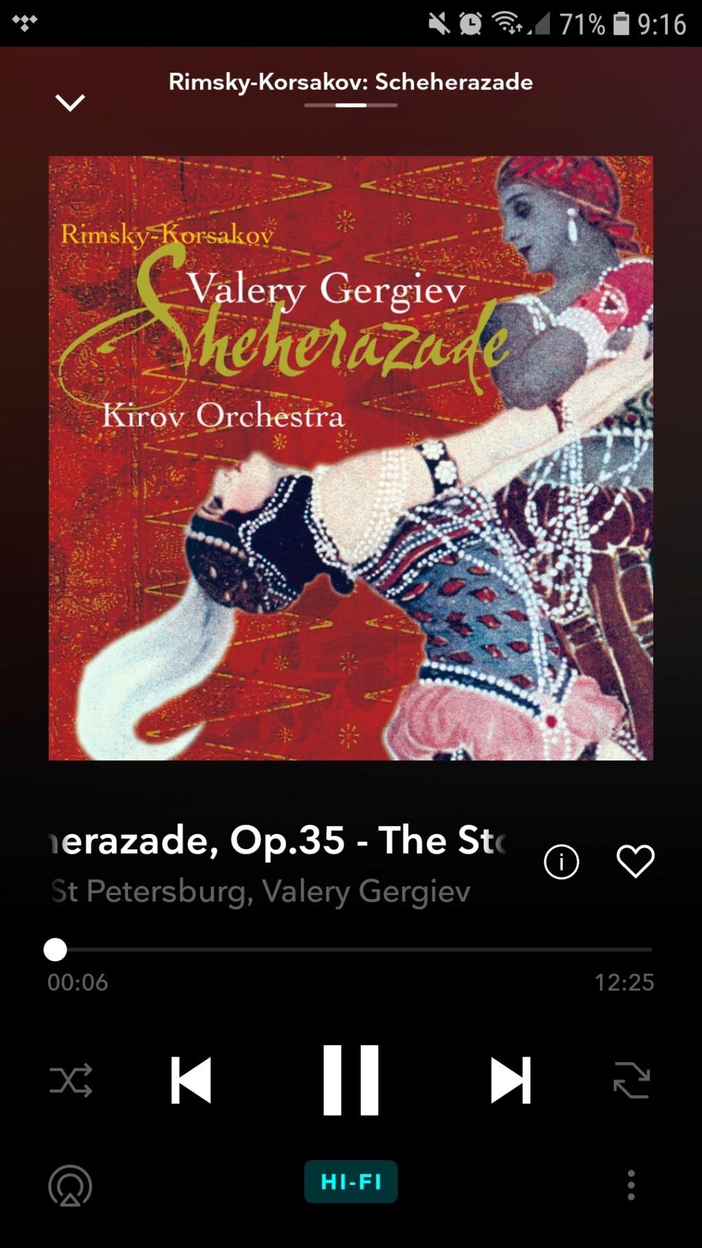 Que versión de Scheherazade de Rimsky korsakov os gustan más? Screen10
