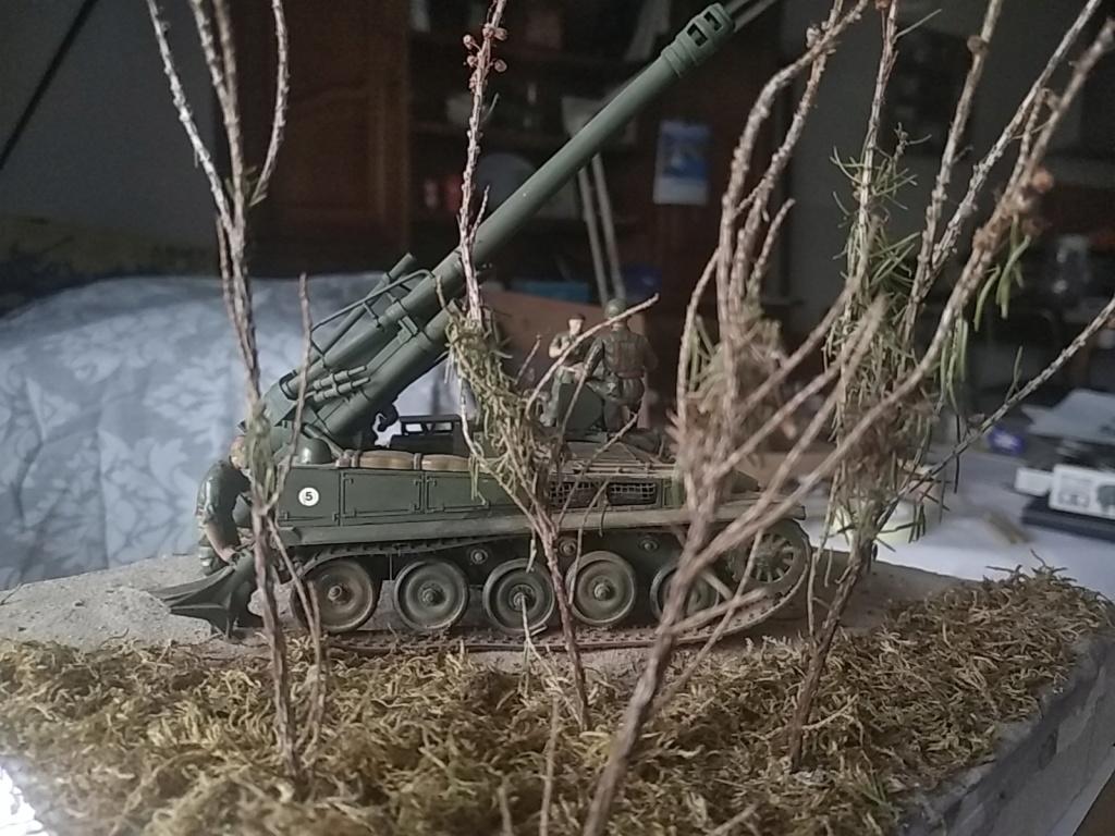 Char AMX 13 canon de 155 en action ...  Réf 81151 Img_2027