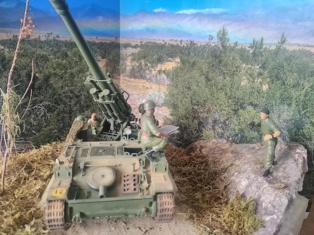 Char AMX 13 canon de 155 en action ...  Réf 81151 Img_2030