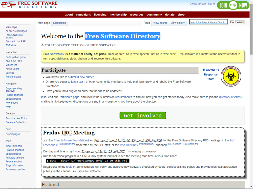 Free Software Directory. 444_e254
