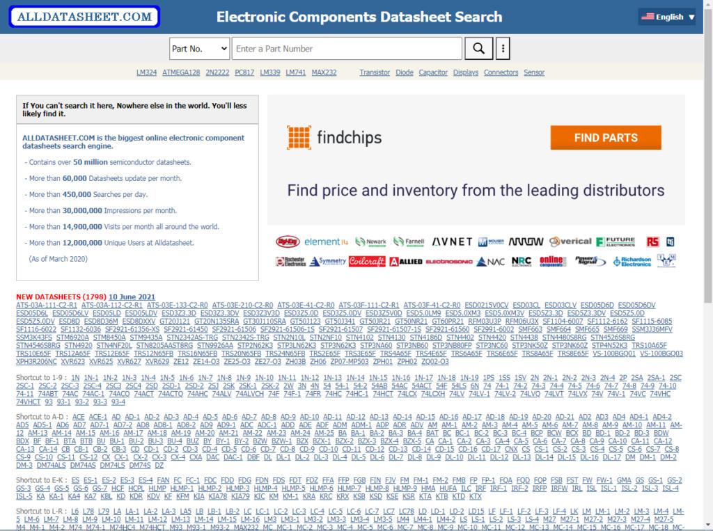 """Сайт """"alldatasheet.com"""". 444_e288"""