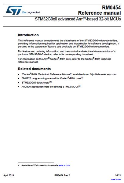 STM32G0. Документация (Datasheet, разное). Datash17