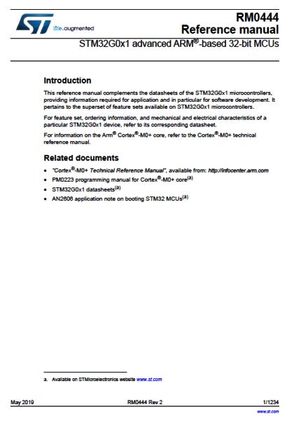 STM32G0. Документация (Datasheet, разное). Datash18