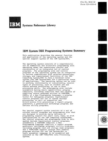 Документация (IBM 360). S_06710