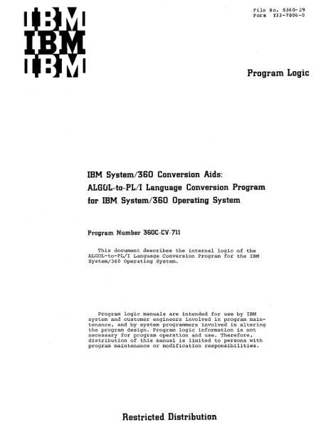 Документация (IBM 360). S_07910