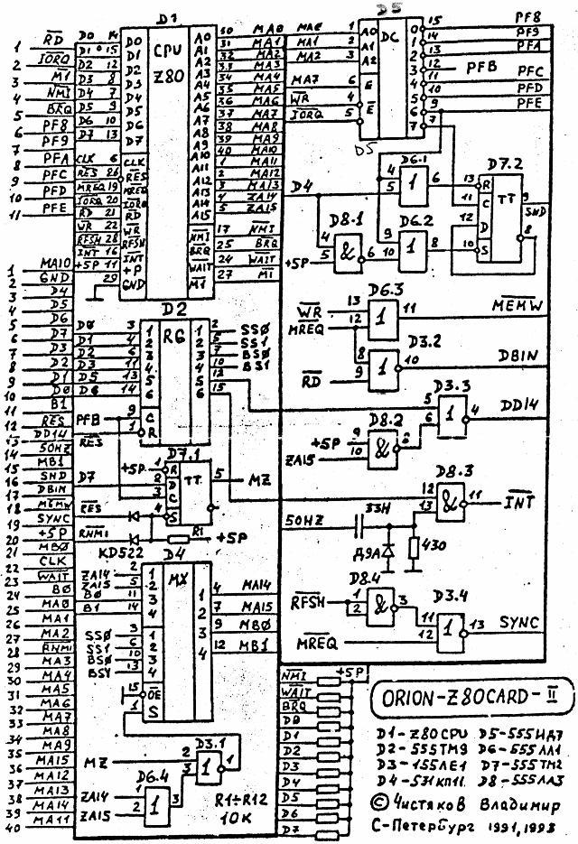 ОРИОН - Орион-128. Документация, схемы, платы... Z80car10