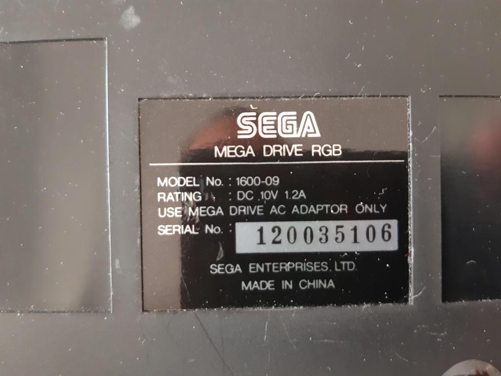 [ESTIM] Console Megadrive et jeux 20210610