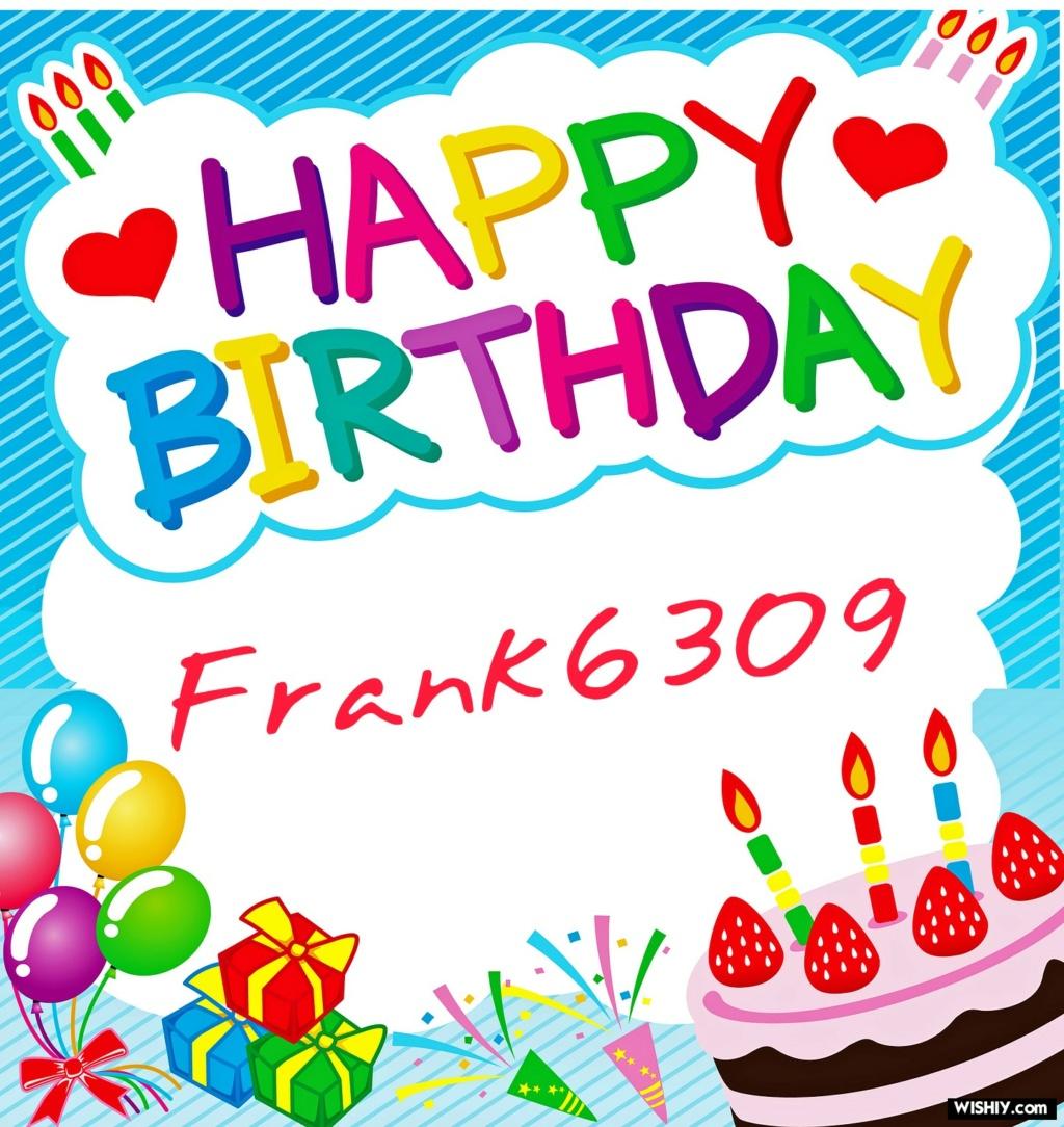 Auguri Buon Compleanno  Frank6309 Frank610