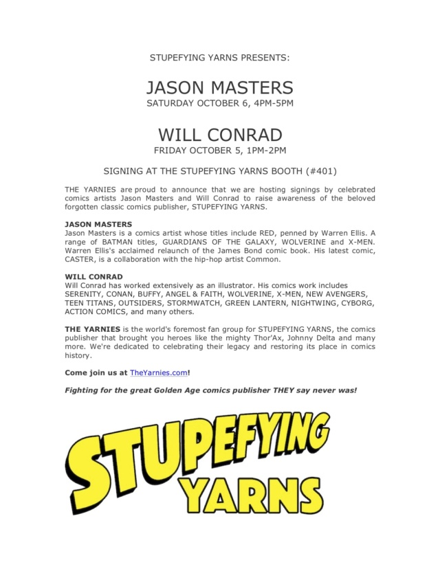 Added awesome comics artists JASON MASTERS and WILL CONRAD!!! Pr_311
