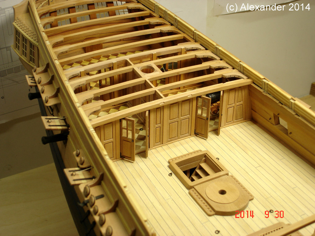The 20 gun ship Sphinx 1775 at 1/48 - Page 4 Post-127