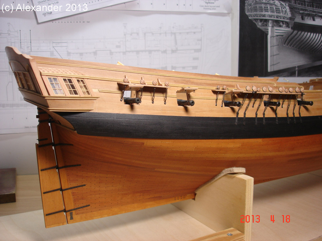 The 20 gun ship Sphinx 1775 at 1/48 - Page 3 Post-896