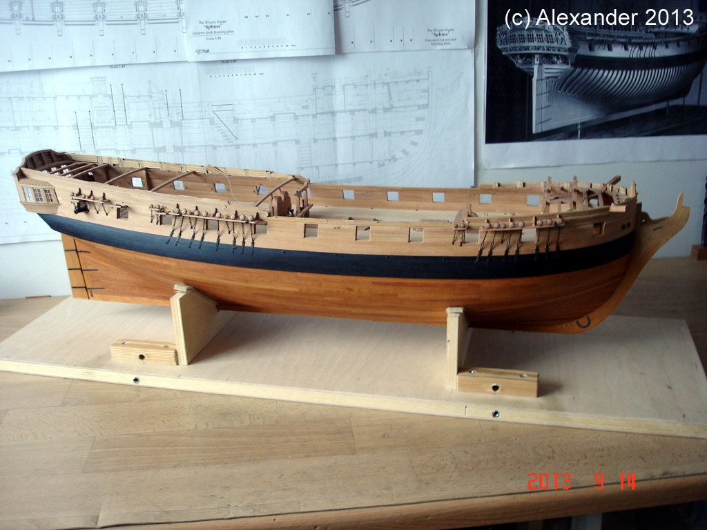 The 20 gun ship Sphinx 1775 at 1/48 - Page 3 Post-897