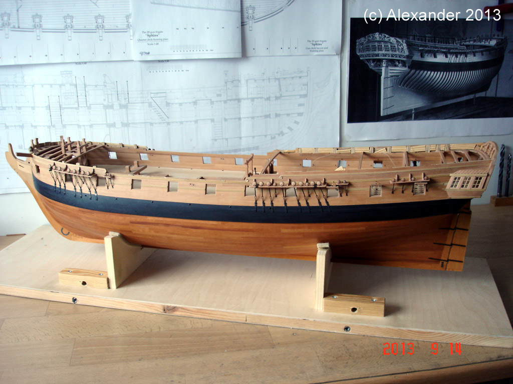 The 20 gun ship Sphinx 1775 at 1/48 - Page 3 Post-898