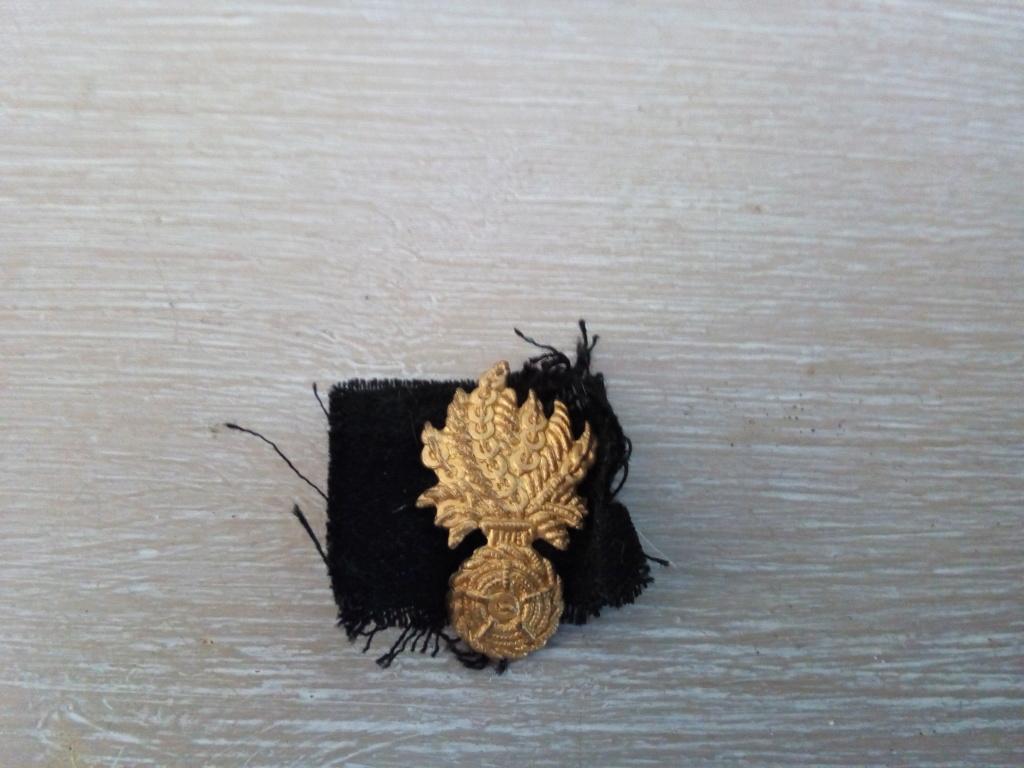 Petite grenade or sur tissus noir Grande11