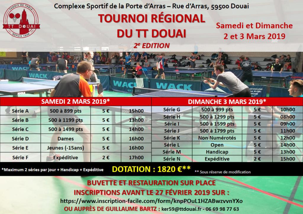 Tournoi Régional du TT Douai 2 & 3 Mars 2019 Affich10