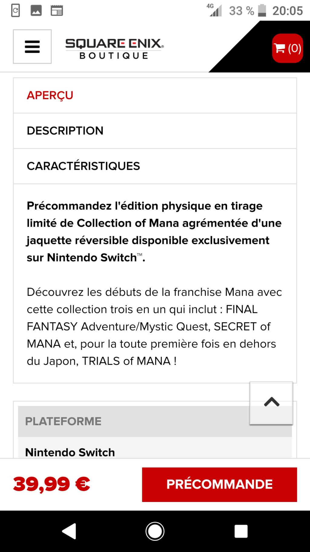 Pré-commande Collection Of Mana en boîte  Screen25