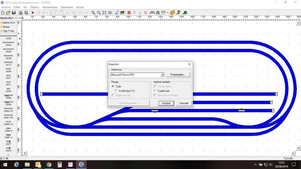 Para dibujar el esquema de vias en pupitre de control Imagen11