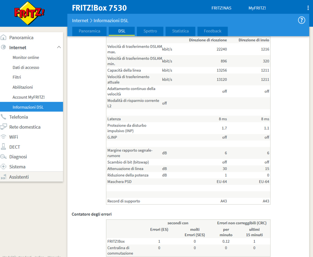 7530 continue disconnessioni con adsl Info_d11