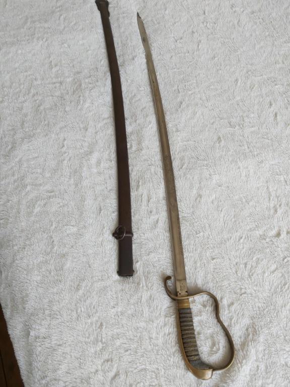 Identification d'un sabre bavarois 20190710