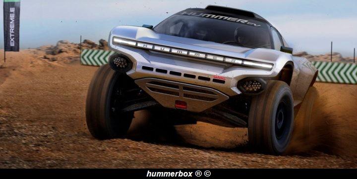 Hummer racing Extreme E en 2021 avec un SUV électrique de 550 chevaux de CGR, qui présente une calandre, des graphismes et une carrosserie uniques, a été inspiré par le GMC HUMMER EV, le premier supertruck entièrement électrique au monde Gmc-hu10