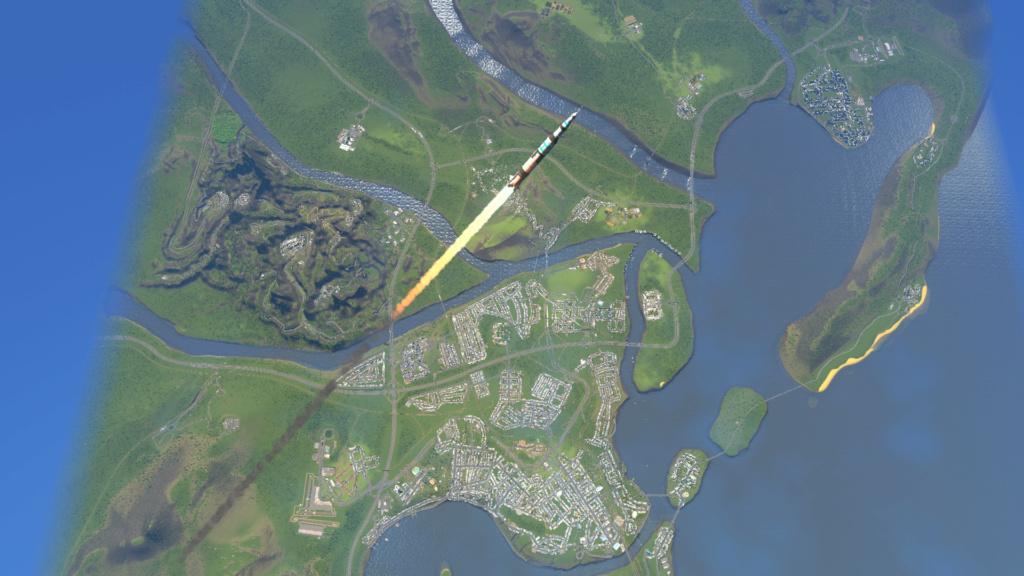 Région de Creeperia et Northbay, pole économique du Newland Screen36