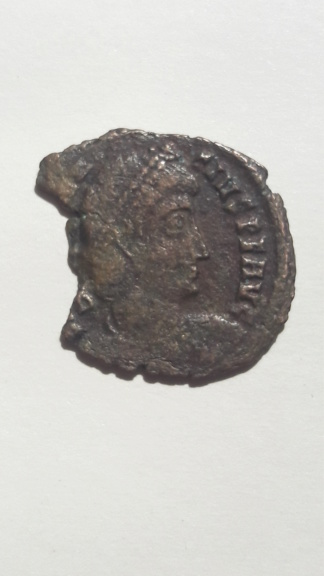AE3 de Constancio II. FEL TEMP REPARATIO. Soldado alanceando jinete. Roma 15824112