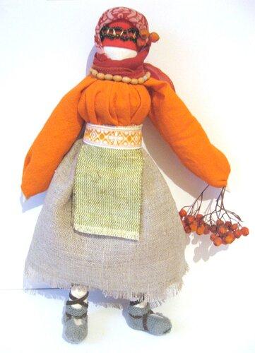 МК Рябинка (традиционная кукла- оберег) 0_61ac14