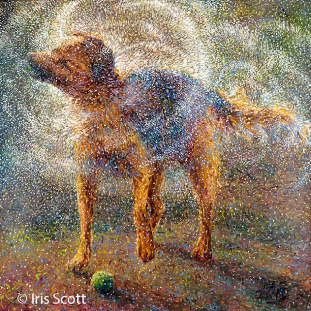 Живопись пальцами художницы Айрис Скотт (Iris Scott) 11628116