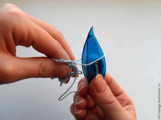 Плетем замкнутый мотив одним челноком 95175010