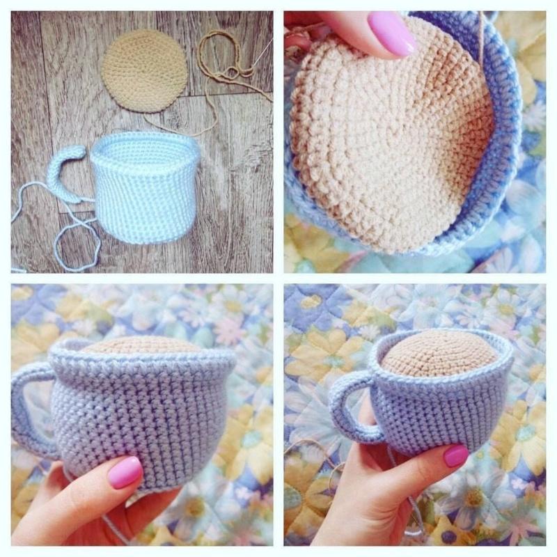 Вязаная чашечка с пакетиком чая (ИГОЛЬНИЦА) Privat10