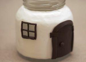 Сказочные домики из банок и полимерной глины Skazoc13