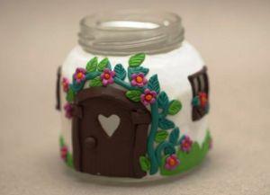 Сказочные домики из банок и полимерной глины Skazoc15