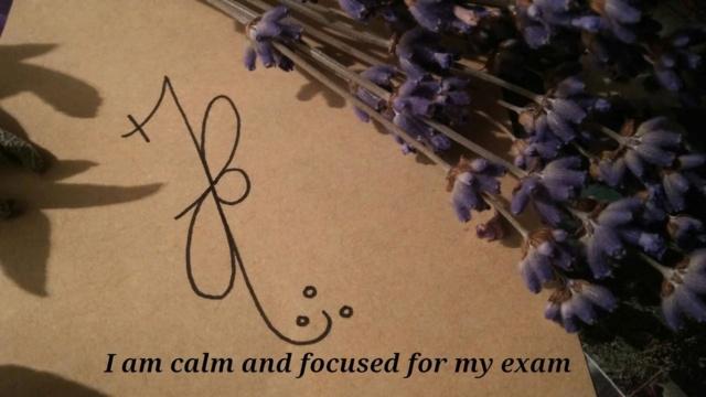 """Сигила """"Я спокоен и сфокусирован на экзамене"""" Tumblr11"""