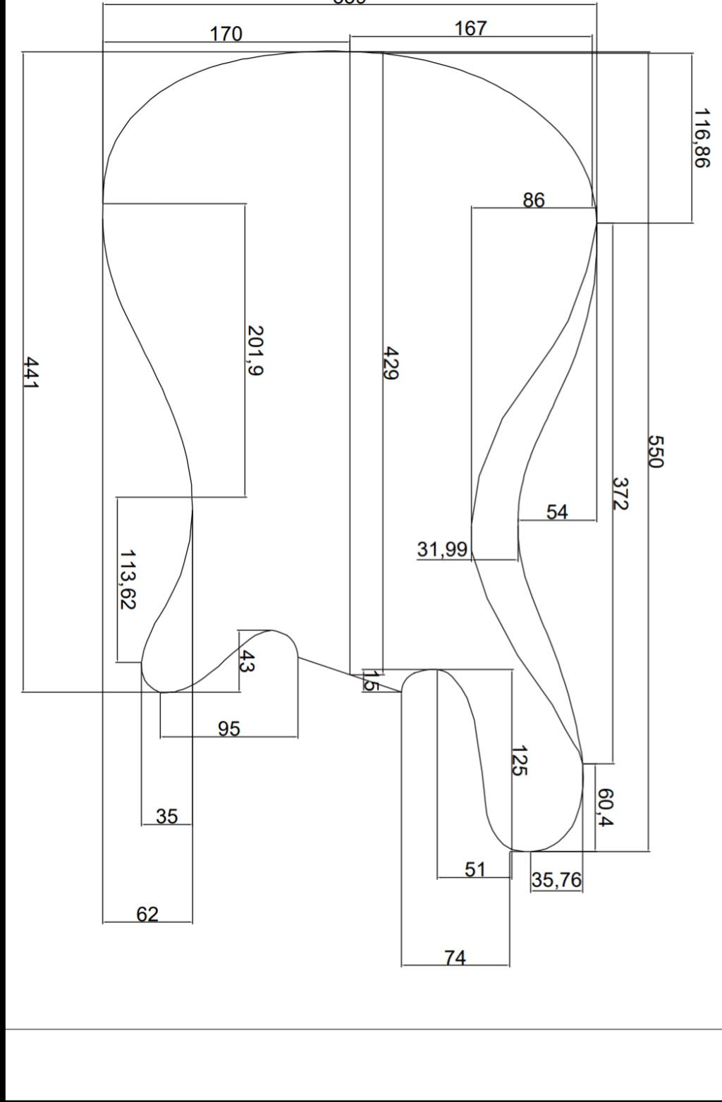 Distância e entre a ponte e o nut - Contrabaixo Elétrico Screen11