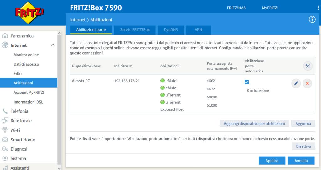 Aperture porte con Fritz 7590 Screen15
