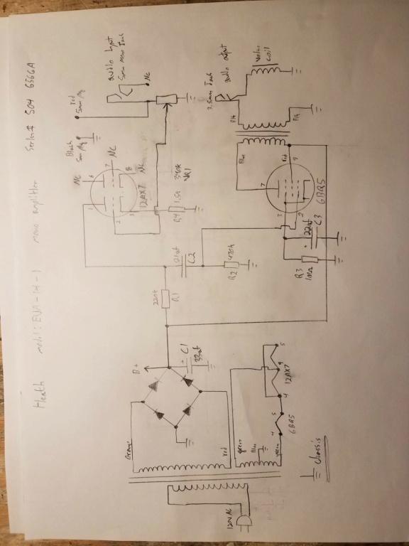 Small Heath (Heathkit?) audio amplifier 20201010
