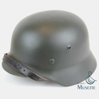 """L'uniforme """"Der Grüne Landser"""" Casque11"""