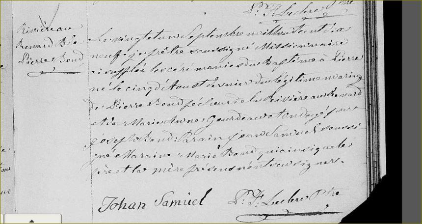 Famille Samuel au Québec Samuel10